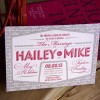 Hailey & Mike | Letterpress Wedding Invitation