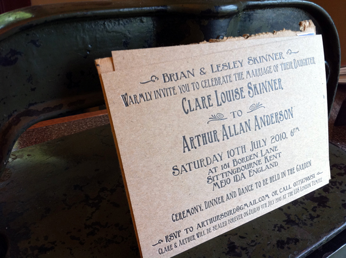 Clare & Arthur | Letterpress Wedding Invitations