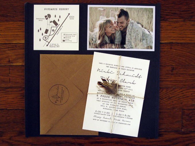 Ty & Nicki | Letterpress Wedding Invitations