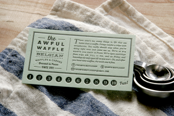 The Awful Waffle | Letterpress Loyalty Cards