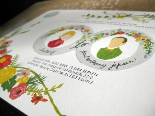 Brittany & Paul | Letterpress & Giclée Wedding Invitations