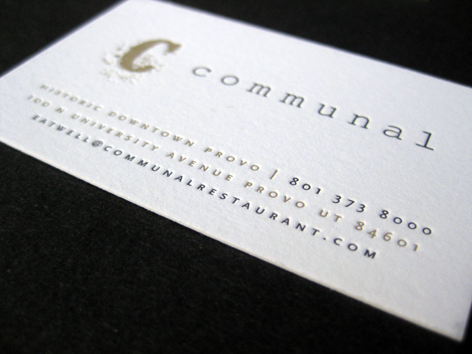 Communal | Letterpress Business Cards