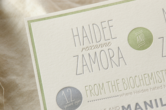 Haidee & Marc | Letterpress Wedding Invitations