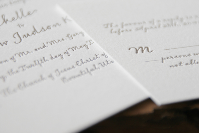Mikelle & Judson | Letterpress & Giclée Wedding Invitations