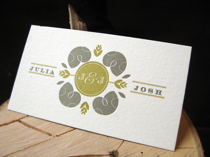 Josh & Julia | Letterpress Wedding Invitations