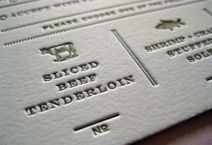Kerri & Steven | Letterpress Wedding Invitations