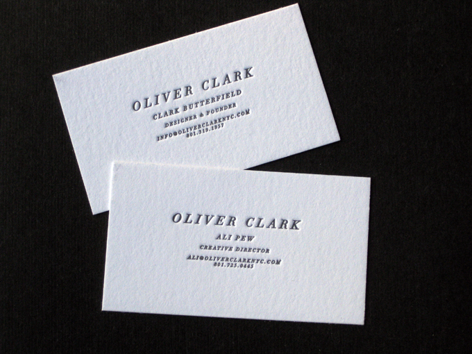 Oliver Clark | Letterpress Business Cards