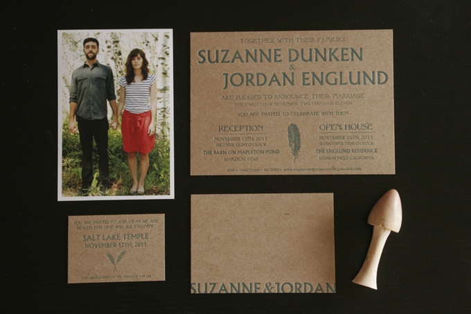 Jordan & Suzanne | Letterpress Wedding Invitations