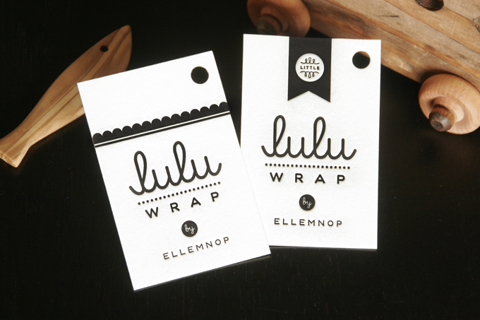 Lulu & Little Lulu Wrap| Letterpress Product Tag