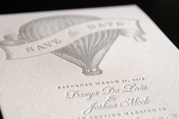 Danya & Josh | Letterpress Save the Dates