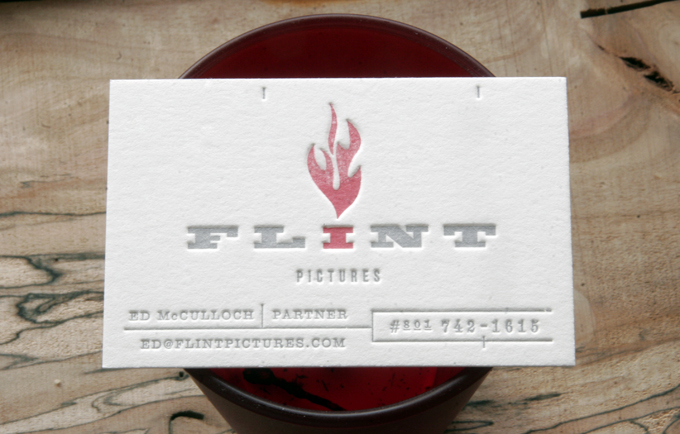 Flint | Letterpress Business Cards