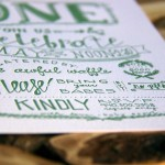 Hand Lettered Baby Announcement